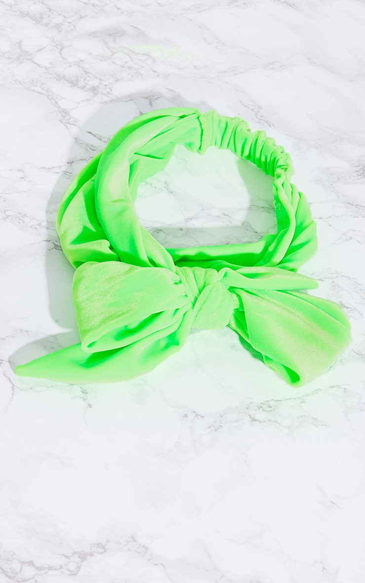 Lime Velvet Wrap Headband 6