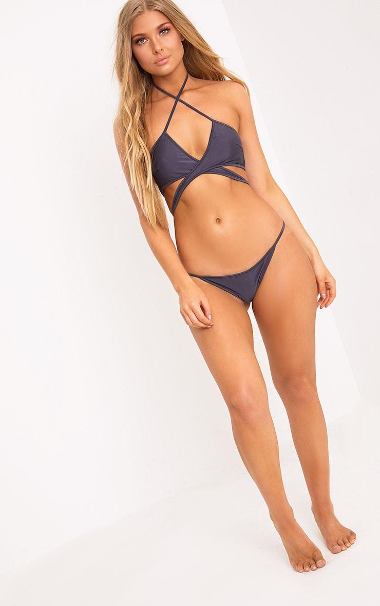Halley Grey Bikini Bottoms 5