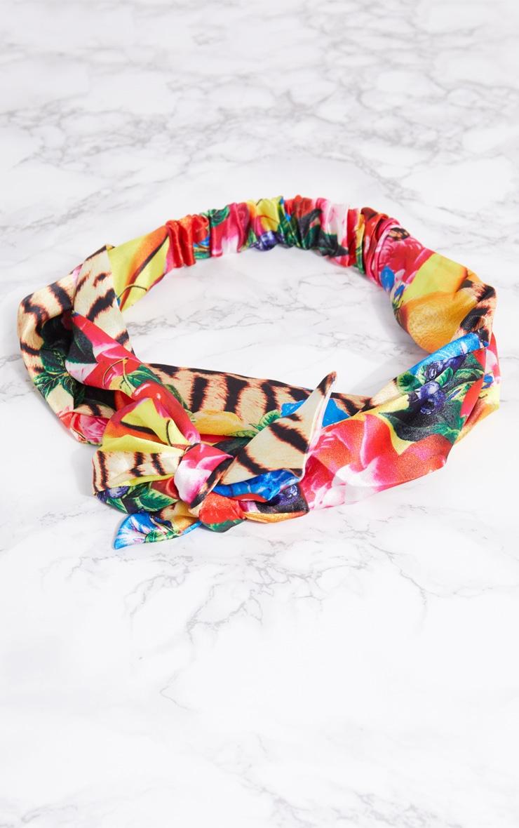 Wild Fruit Print Tie Headband 3