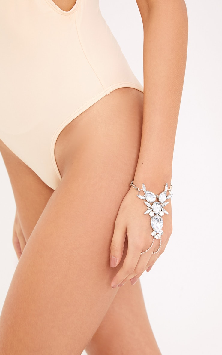 Poala Silver Jewelled Hand Choker  1