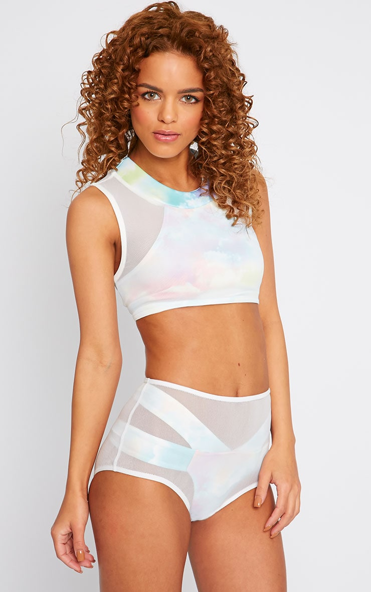 Xing Cloud Mesh Crop Top -14 3