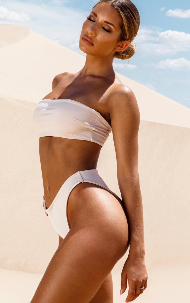 Nude High Rise Bikini Bottom 2