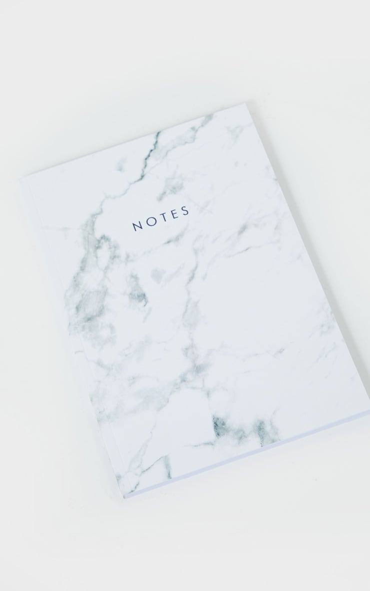 Central23 White Marble Notebook 1