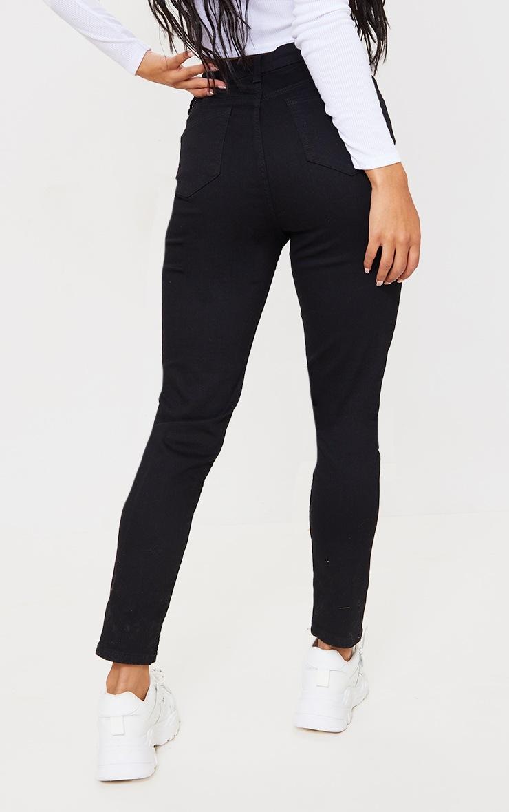 Jean skinny taille haute à 5 poches noir 3