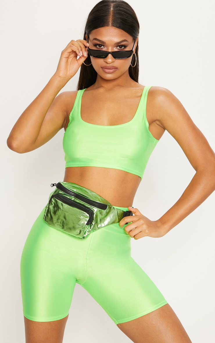 Lime Neon Square Neck Crop 2