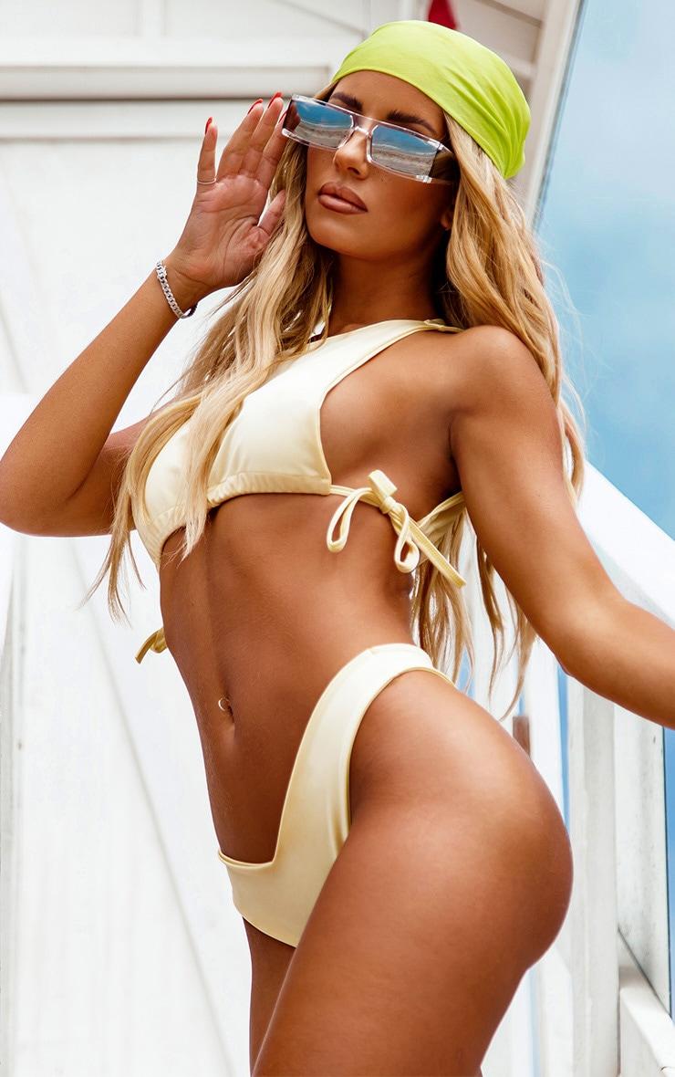 Lemon High Neck Side Boob Bikini Top 1