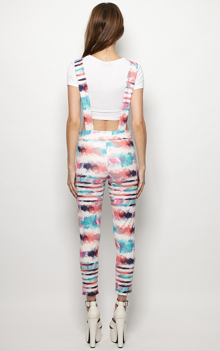 Avril Multi Print Dungaree Jumpsuit 2