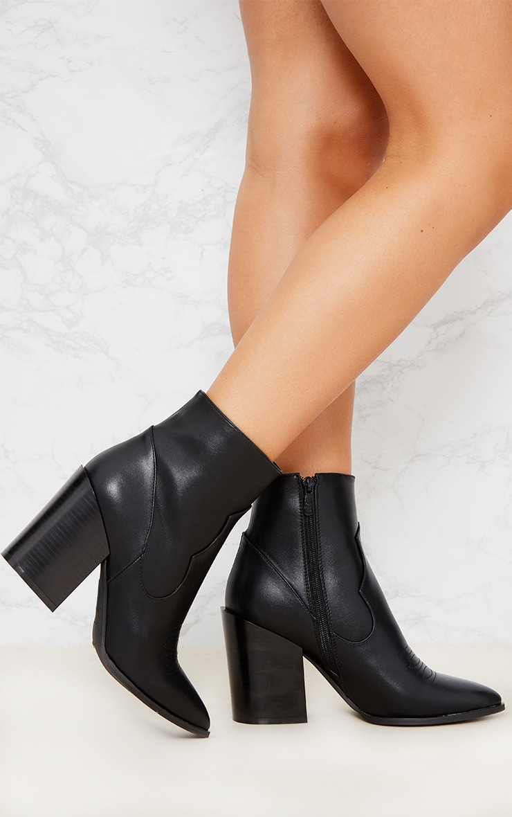 Black Western Boot  2