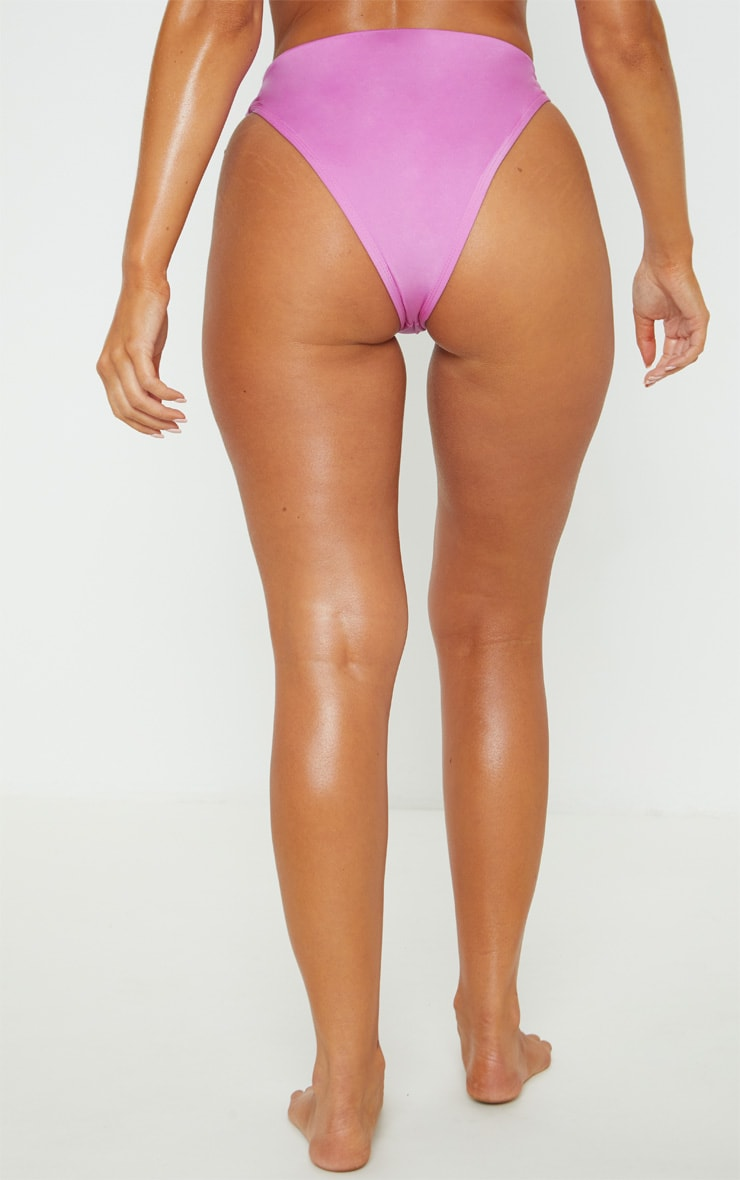 Violet Mix & Match High Waisted High Leg Bikini Bottom 4