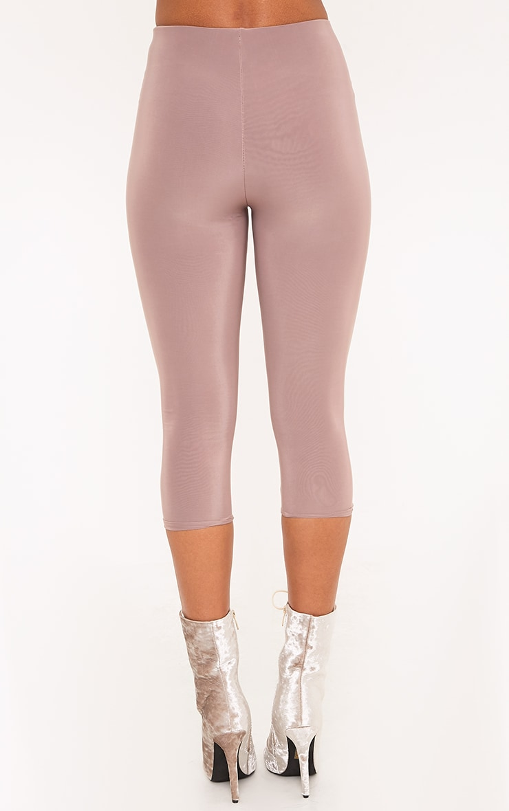 Rio Truffle Slinky Cropped Leggings 4