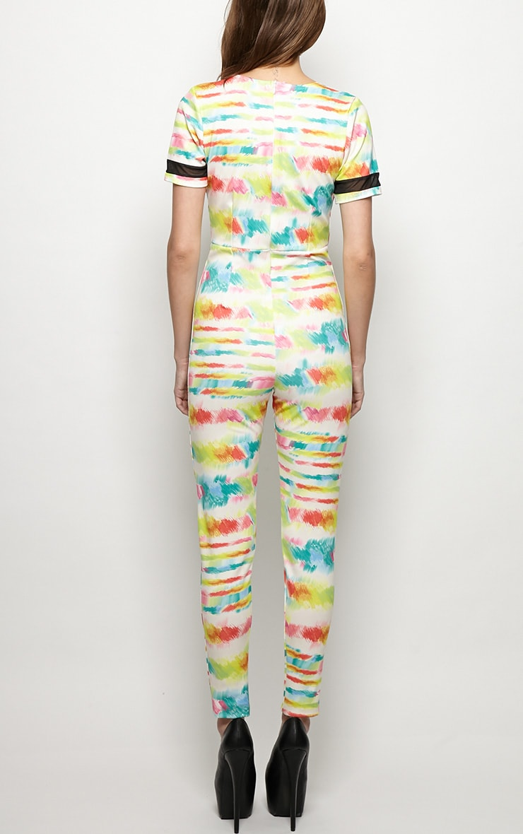 Isobel Graphic Paint Splash Print Jumpsuit  2