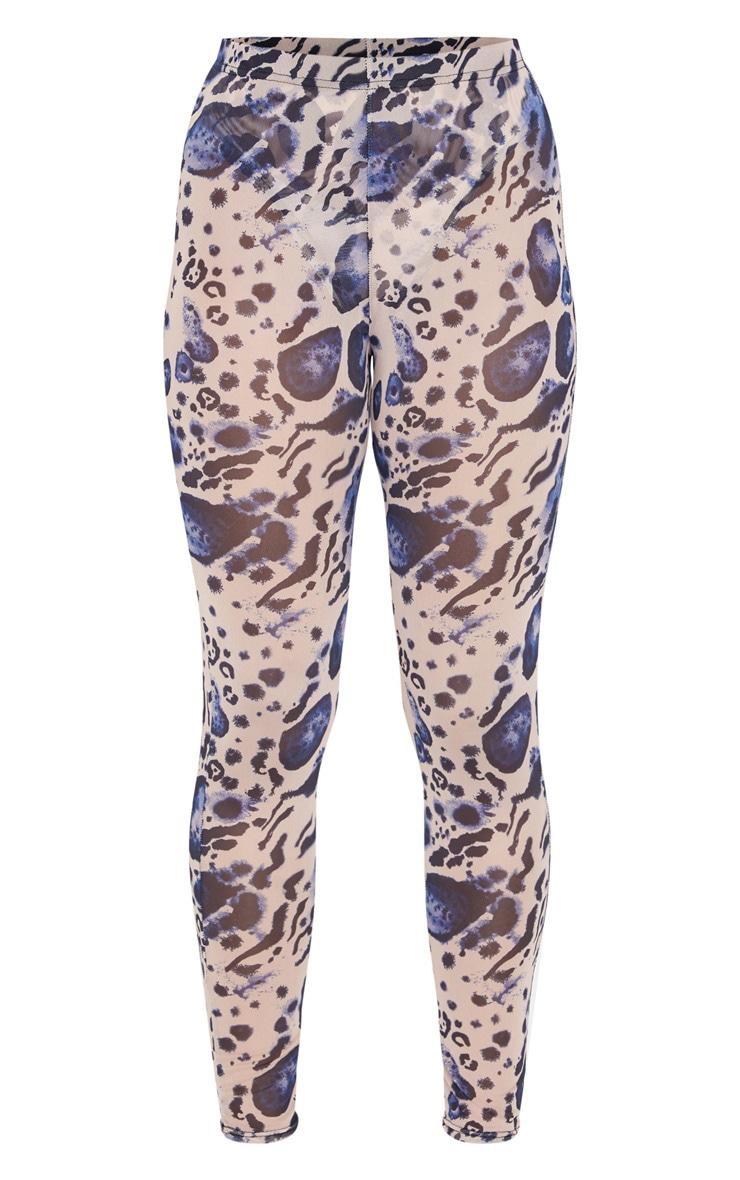 Multi Leopard Print Mesh Leggings 5