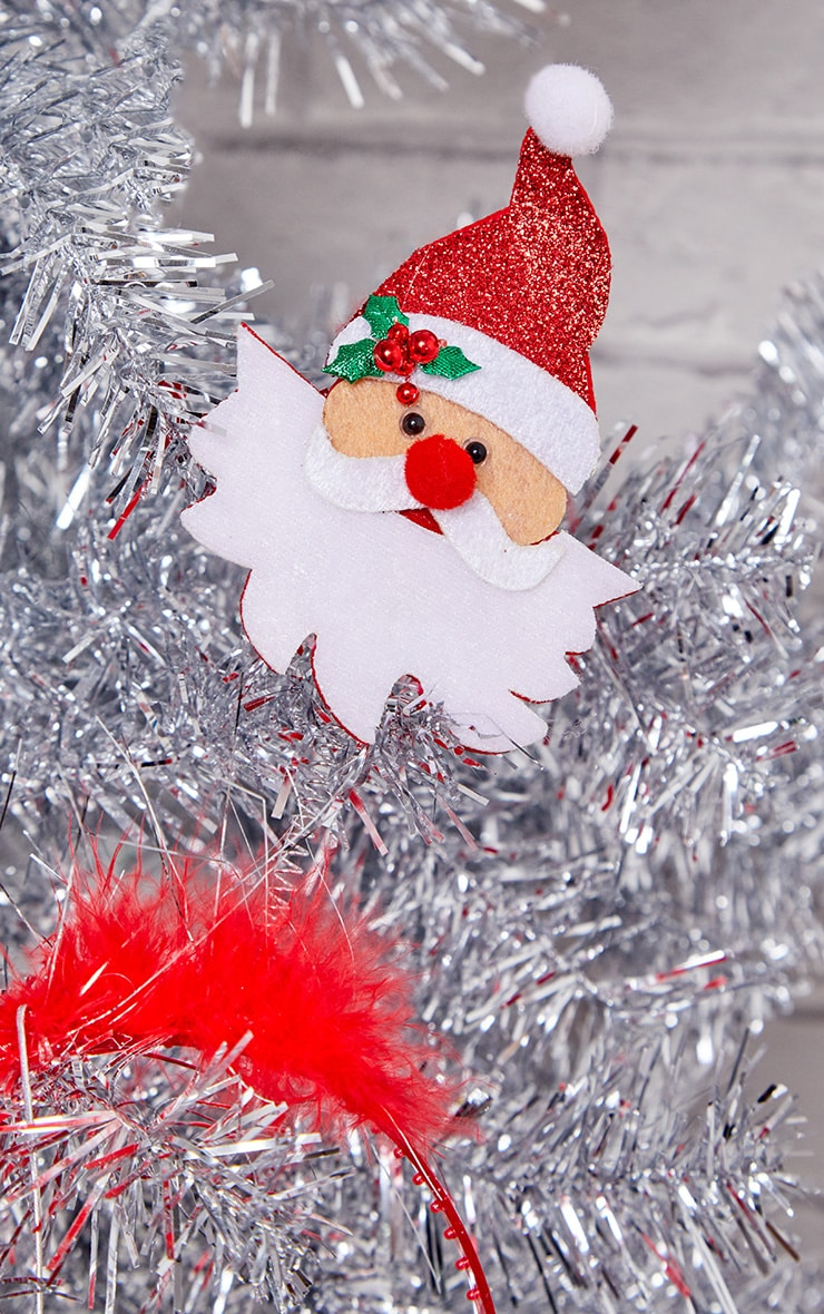 Red Santa Claus Head Bopper Headband  2