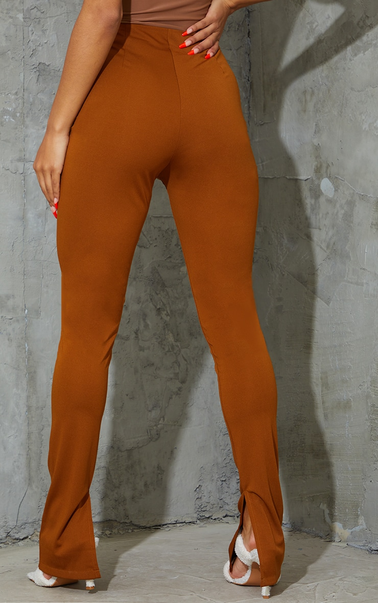 Camel Stretch Detail Skinny Trousers 3