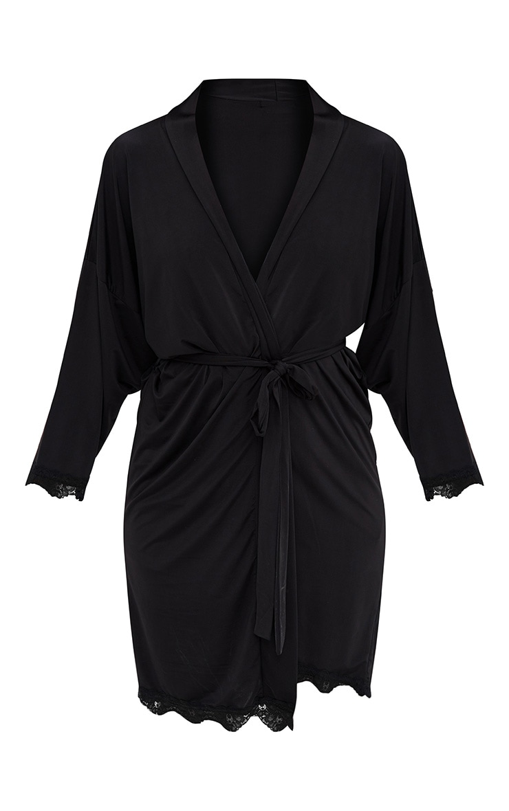 Black The Bride's Squad Black Slinky Dressing Gown 3