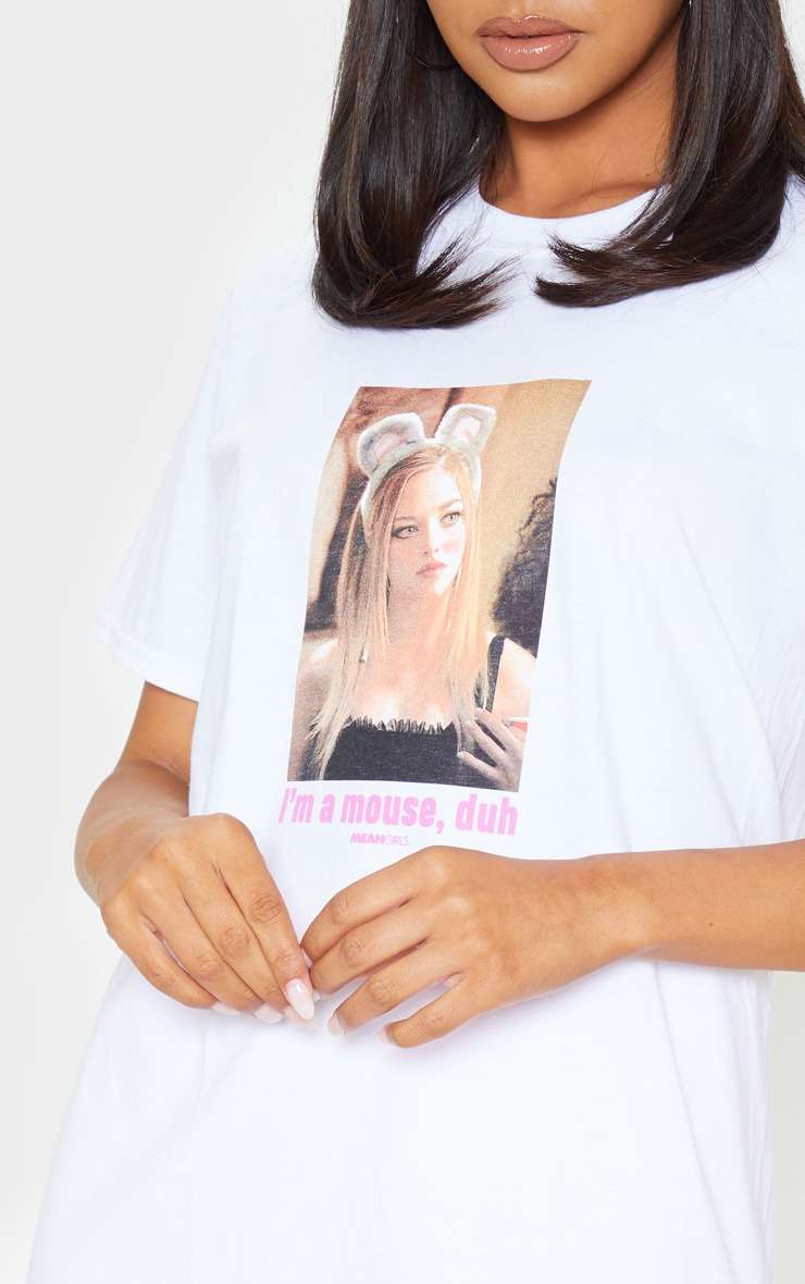 White Mean Girls Mouse Slogan T Shirt 6
