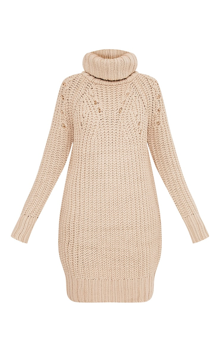Xael Stone Knitted Roll Neck Overesized Dress 3