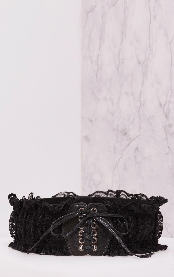 Ely Black Laced Detail Belt 3