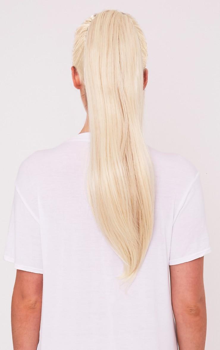 Light Blonde Clip In Straight Ponytail 2