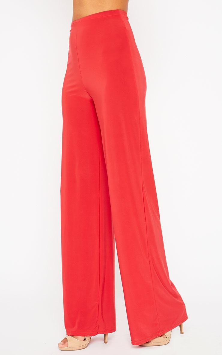 Zafia Red Palazzo Trousers 4