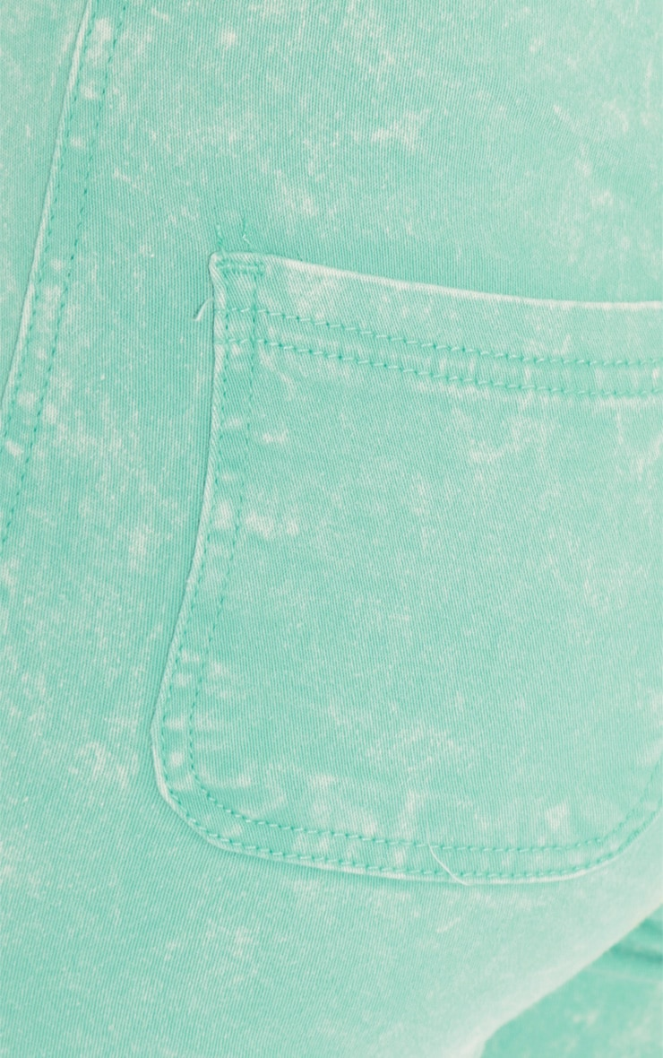 Annie Mint Acid Wash Skinny Jeans 5