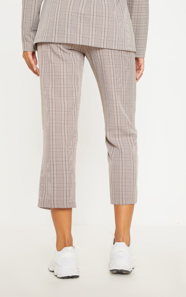 Brown Check Straight Leg Trouser 4