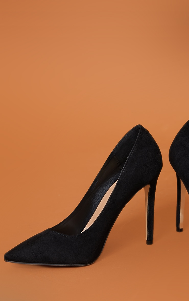 Black Heeled Court Shoes 4