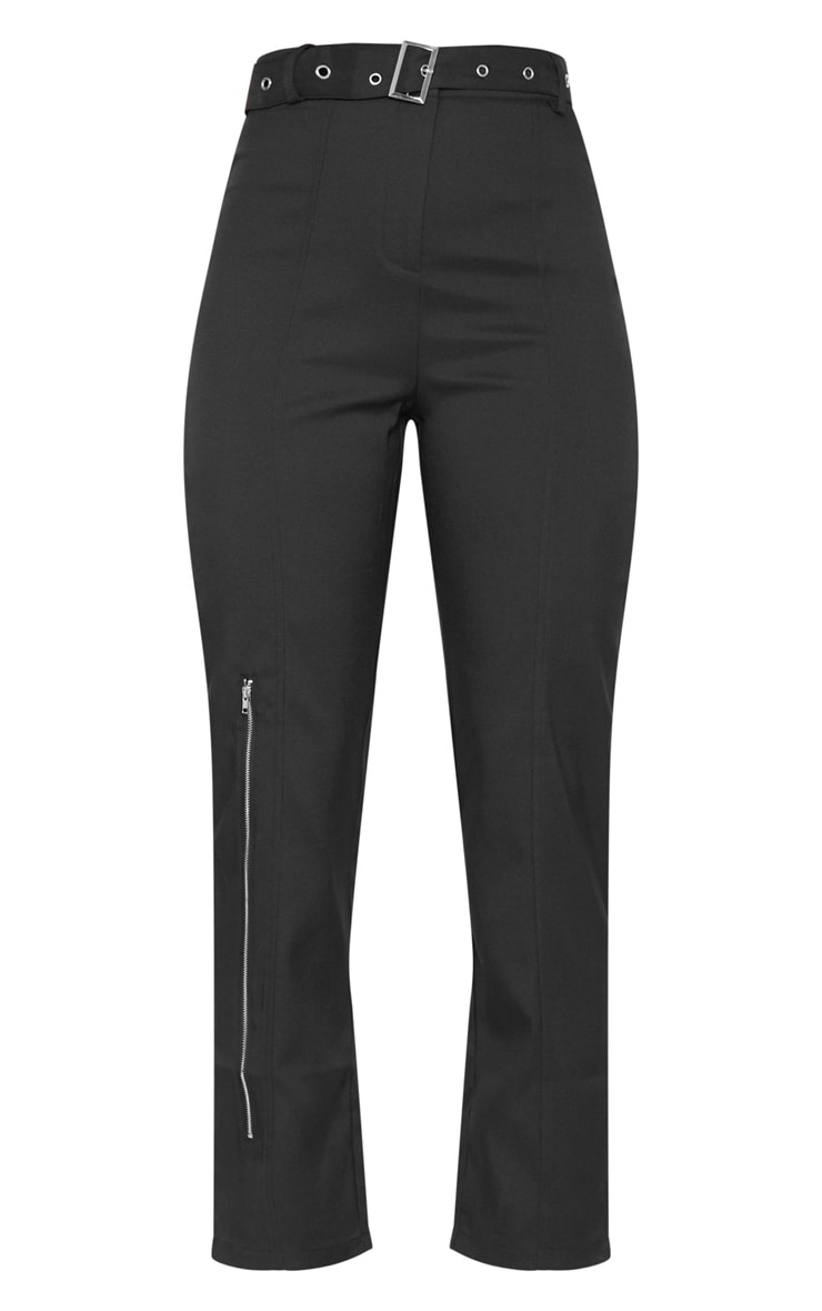 Black Belted Slim Leg Trouser 3