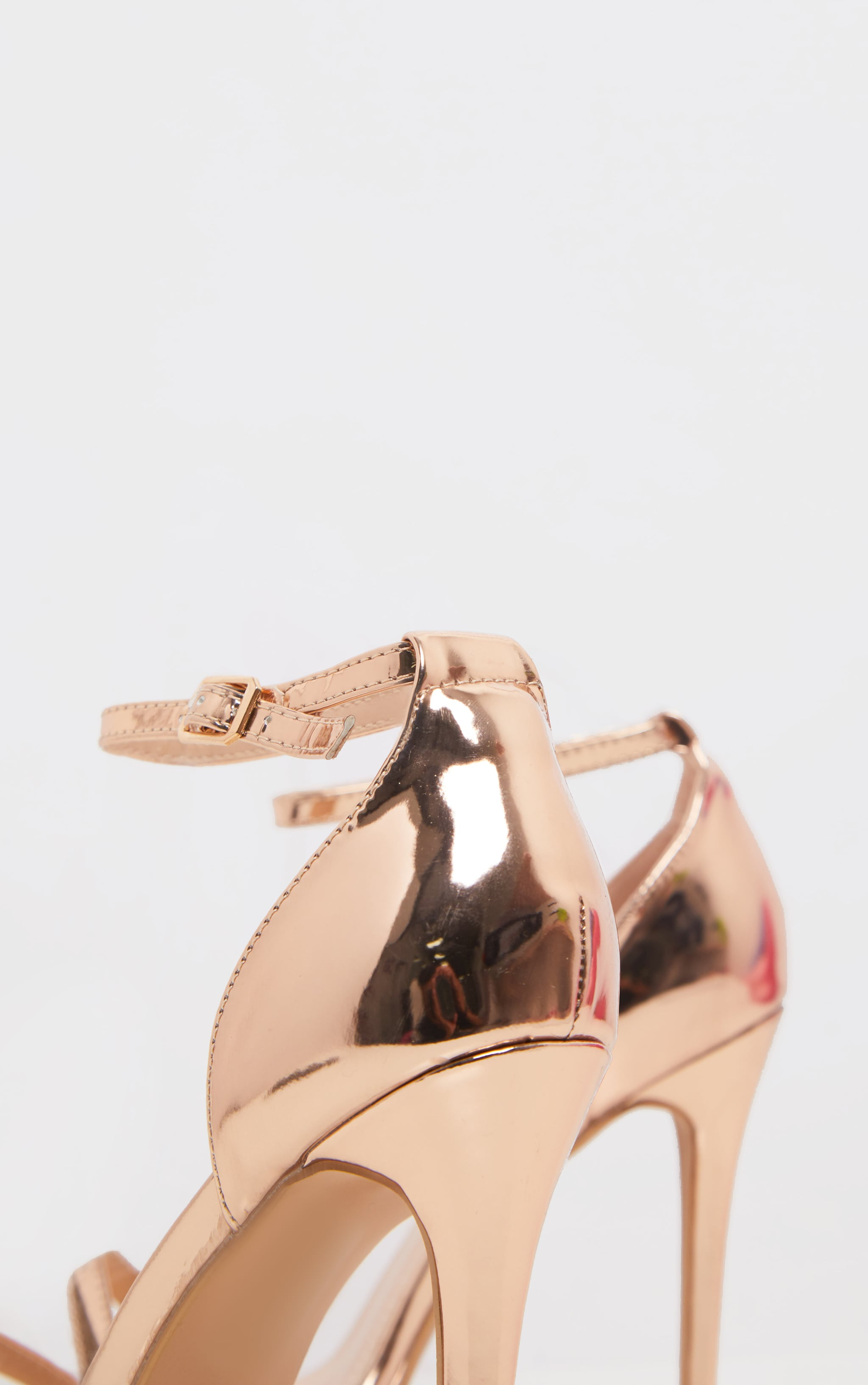 Rose Gold Single Strap Heeled Sandals 4