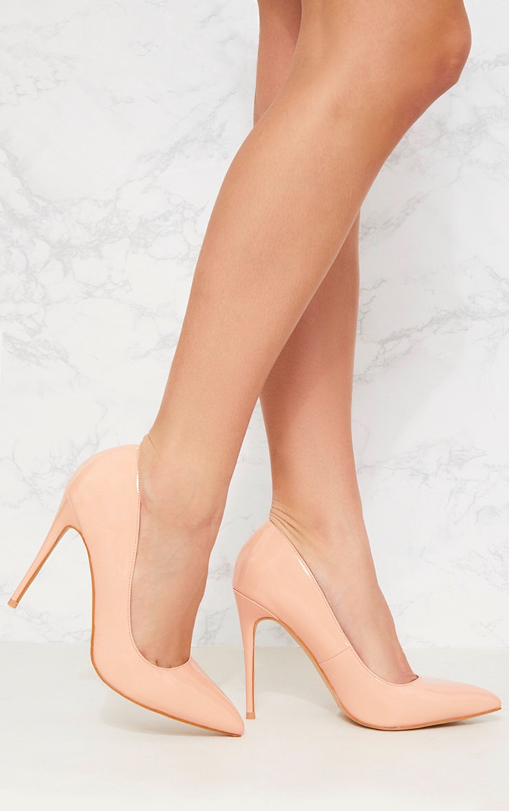 Nude Print Court Shoe