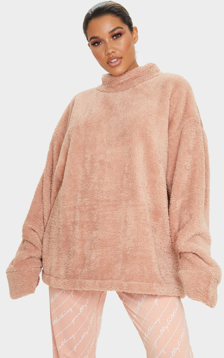 Rose High Neck Borg Sweater 5