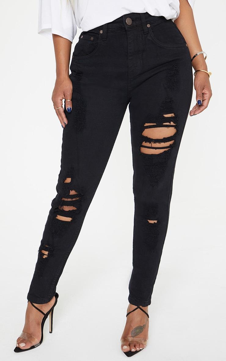 Shape Black Extreme Rip Skinny Jeans 2