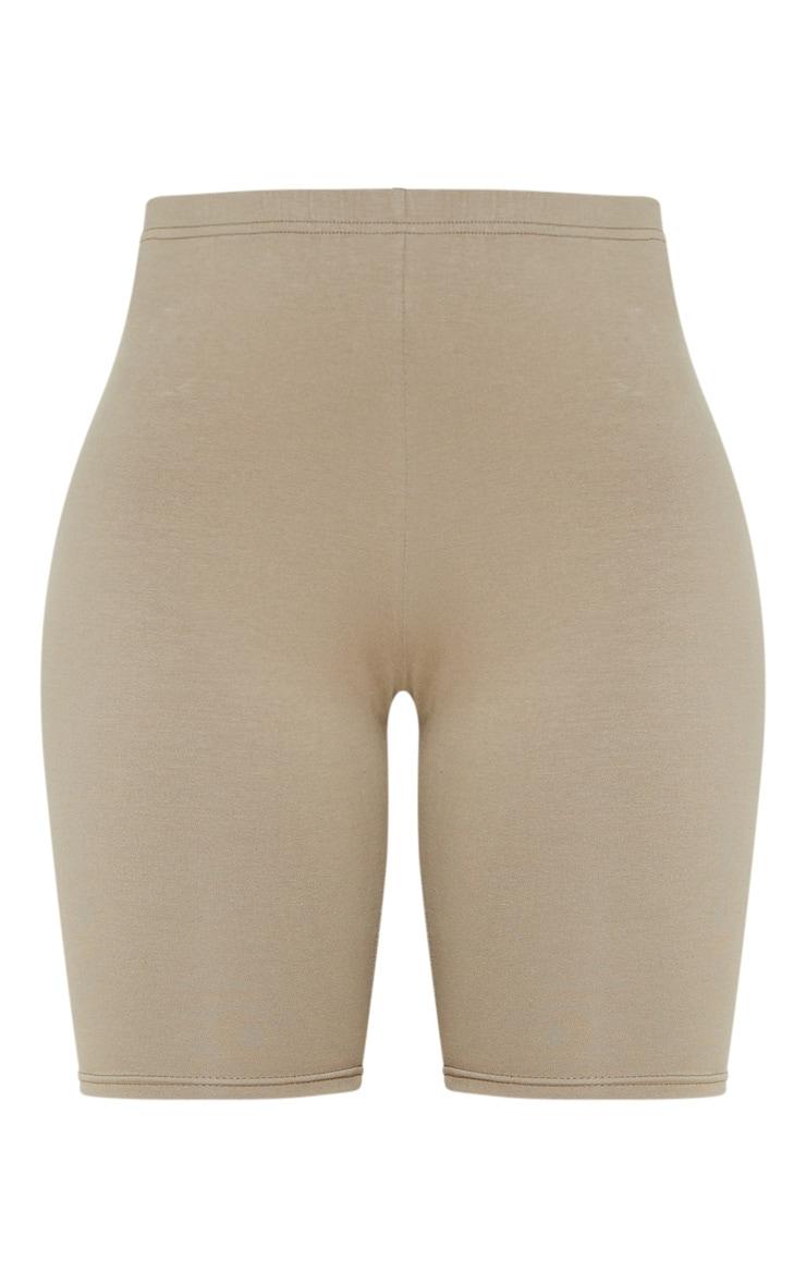Pale Khaki Cotton Stretch Bike Short  3