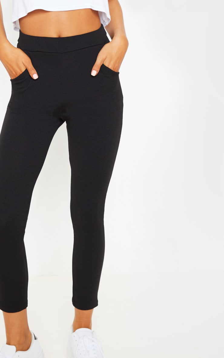 Sage Black Crepe Skinny Trousers 5