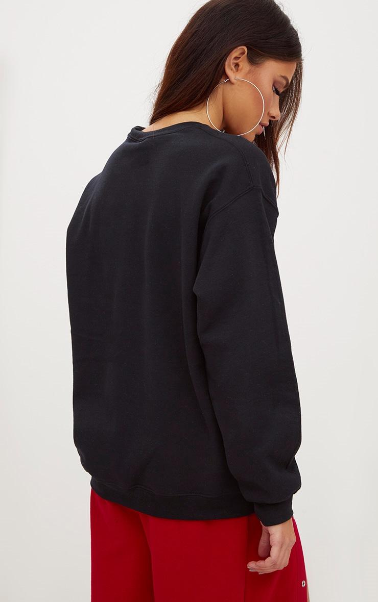 Black Chilled Slogan Sweater 2
