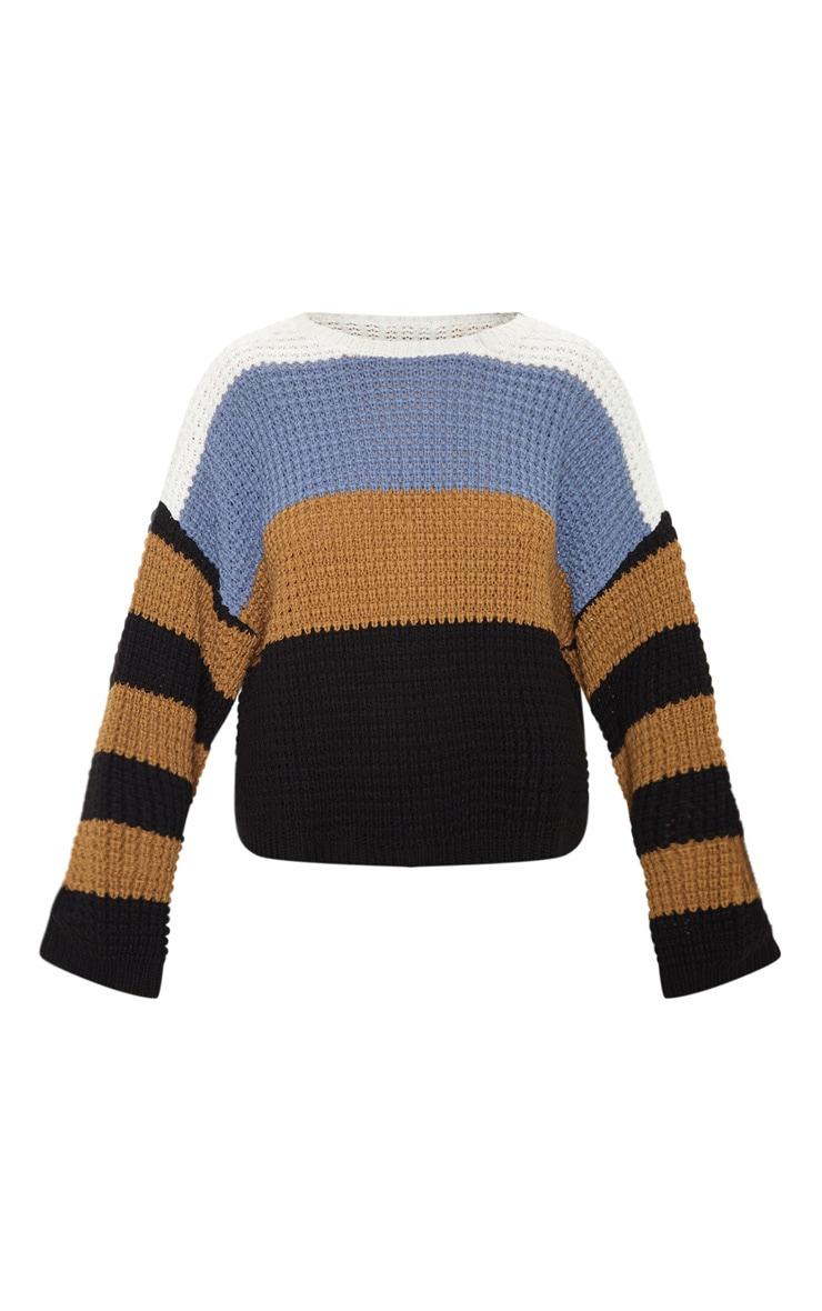 Multi Stripe Knitted Sweater 4