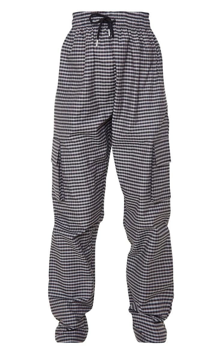 Grey Woven Checked Cargo Trouser 3