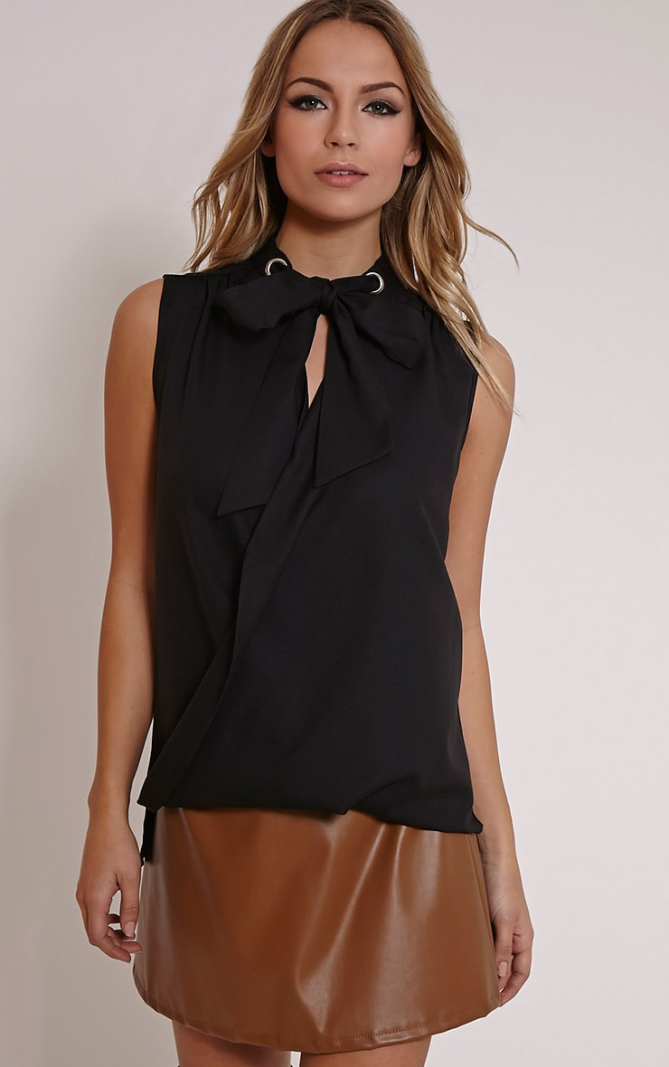 Dianne Black Pussy Bow Blouse 1