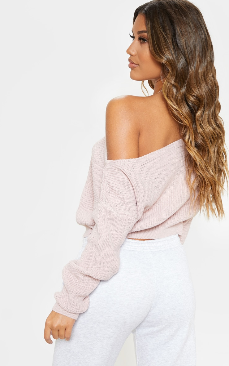 Blush Off Shoulder Jumper 2
