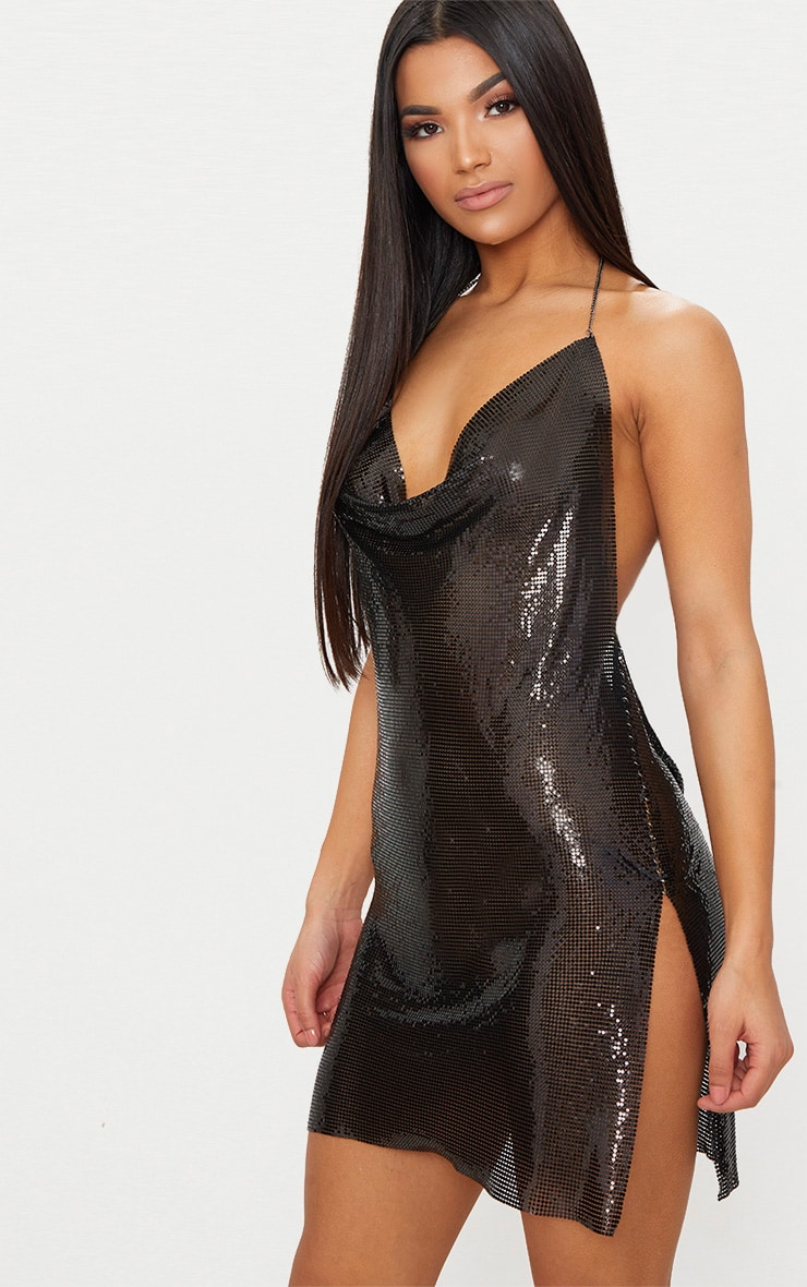 Black Chainmail Dress 2