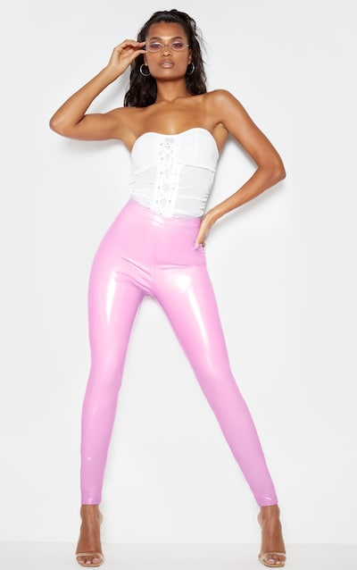 Lilac High Waisted Vinyl Legging