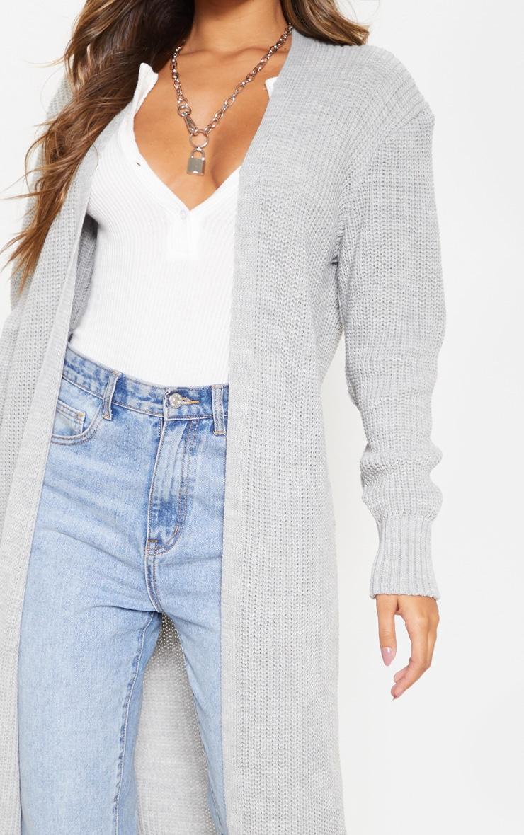 Light Grey Maxi Knitted Cardigan 6
