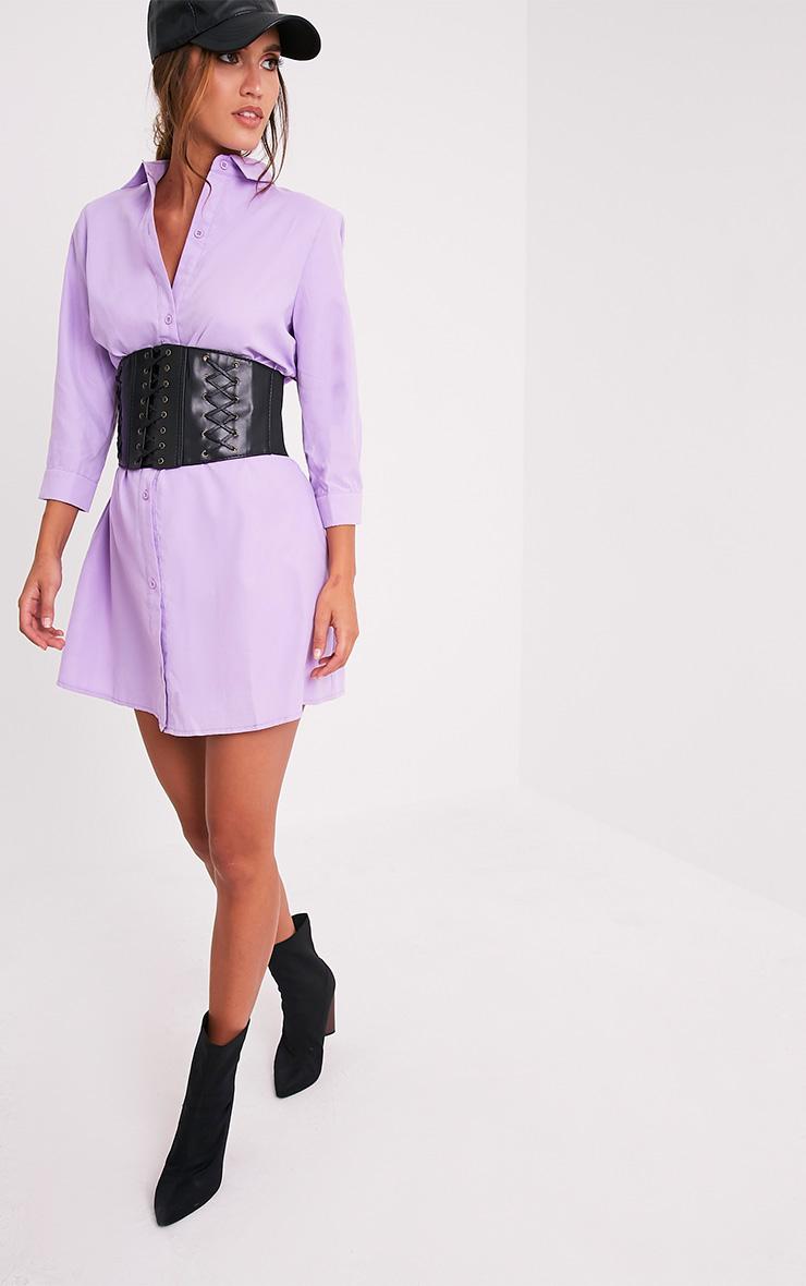 Leni Lilac Shirt Dress 4