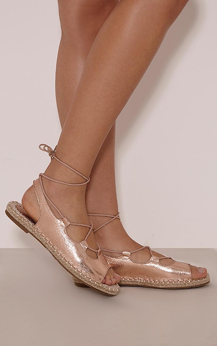 Coco Gold Metallic Espadrille Sandals 2