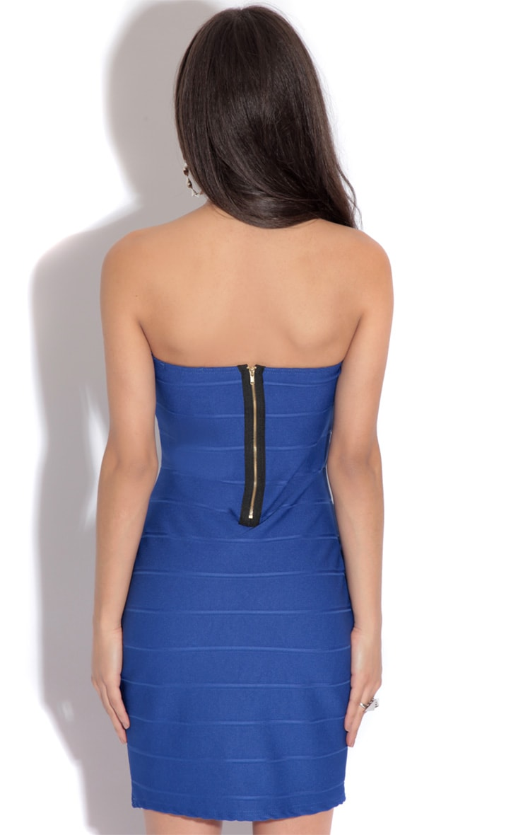 Abbi Blue Bodycon Dress 2