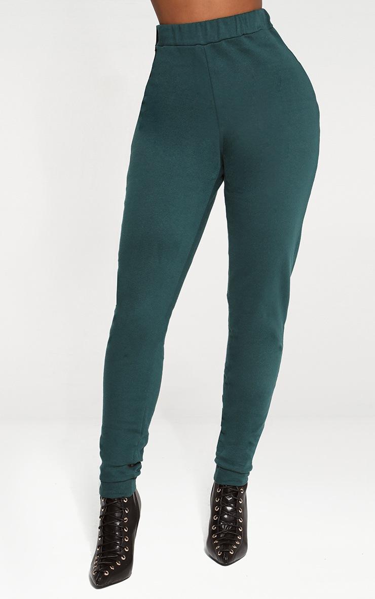 Shape Emerald Green Elastic Bottom Joggers 2