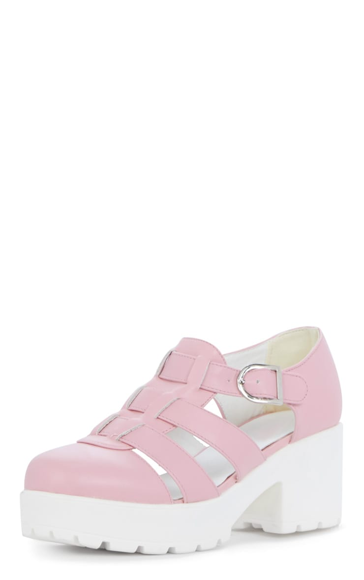 Rachel Pink Cut Out Cleated Shoe  2