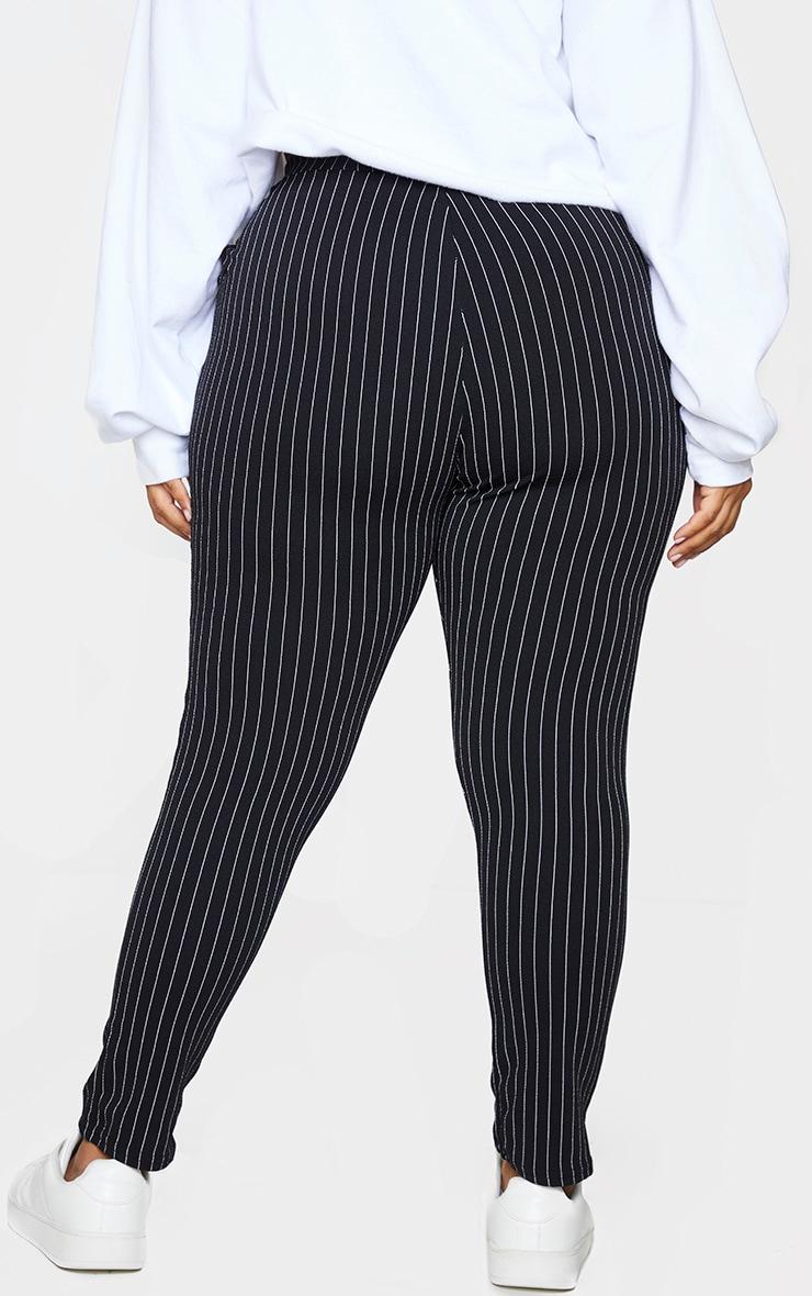 Plus Monochrome Pinstripe Skinny Pants 3
