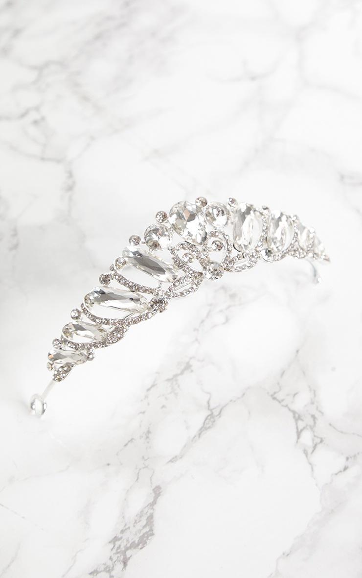 Silver Diamante Prom Tiara 3