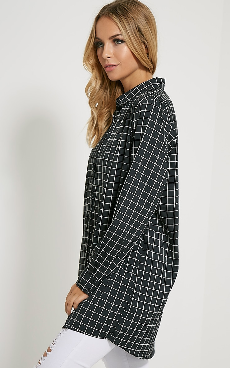 Flora Black Check Shirt 4